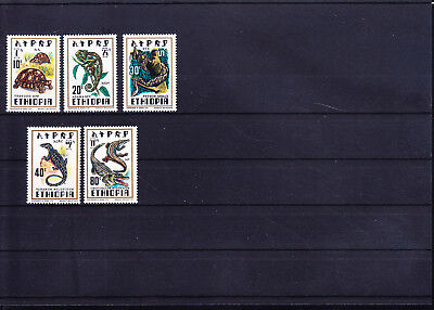 054568 Reptilien Reptils Ethiopia 898-902 ** MNH Year 1976