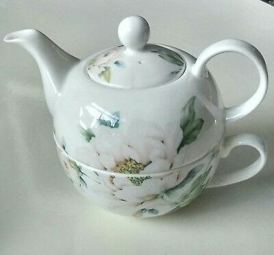 Super Laura Ashley Bone China Tea Pot and Cup for One Lovely Condition