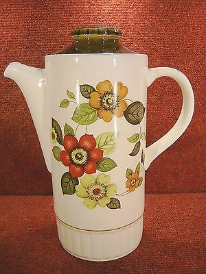 "ROYAL W0RCESTER PALISSY "" CLOVELLY "" Large COFFEE POT - FREE UK POSTAGE"