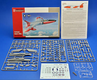 """SPECIAL HOBBY 72322 Folland Gnat F. Mk. I """"British Single Seaters"""" in 1:72"""