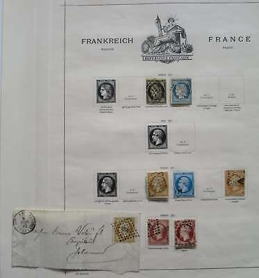 FRANCE 1849-1860 COLLECTION ANCIENNE  A TRIER °/bq902