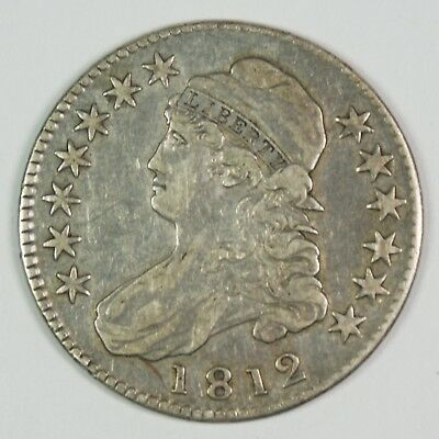 1812 50c Capped Bust Silver Half Dollar