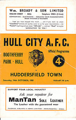 HULL CITY v HUDDERSFIELD TOWN 59-60 LEAGUE MATCH