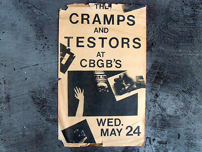 THE CRAMPS  ViNTaGe 1979 PRoMo PoSTeR CBGB'S NeW YoRK PuNK CoNCeRT WiTH TeSToRS