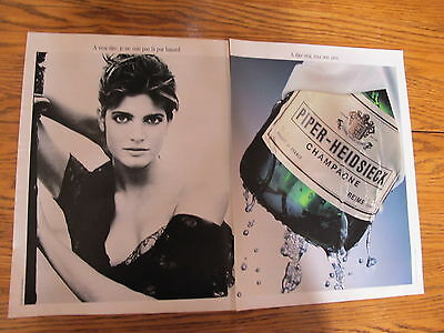 Stephanie Seymour  Sexy Clippings,piper Heidsieck Champagne