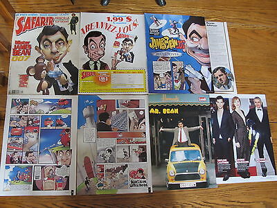 Very Rare,rowan Atkinson French Us Clippings,poster.