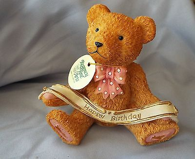 HAPPY BIRTHDAY Teddy Bear Regency Fine Arts  figurine ornament - new boxed