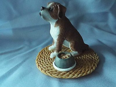 BOXER  dog figurine / ornament by Regency fine arts 3 inches high