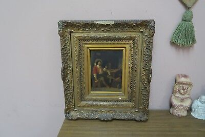 "Antique Holland Dutch Painting on Tin Artist signed Maris  6.5"" x 8.5"""