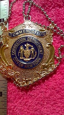 New York Corrections  NYC Commendation Medal w/ neck chain