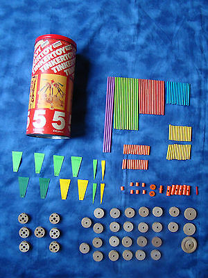 Vintage Tinker Toy Set 30050 with Original Can