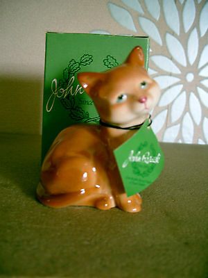 BESWICK CAT KITTEN  MODEL No 1436 GINGER GLOSS PERFECT WITH BOX & NECKTAG