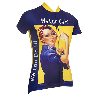 ROSIE THE RIVETER WOMEN S SHORT SLEEVE CYCLING JERSEY- by Retro Image  Apparel 35685ee82