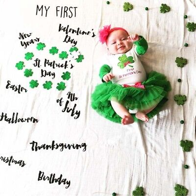 Newborn Baby Photography Photo Props Backdrop Shoots Letters Milestone Blanket