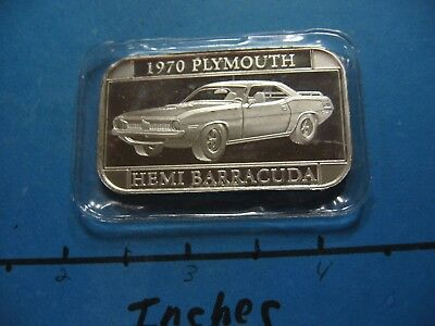 1970 Plymouth Hemi Barracuda Muscle Car 999 Silver Bar Rare Cool Mint Sealed
