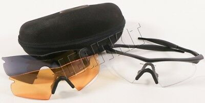 Oakley SI Ballistic M Frame Strike Glasses Black w/ Clear Smoke & Amber Lenses