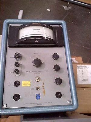Twenty million megohmmeter Model 29A Electronic Instruments Limited Mohm Meter
