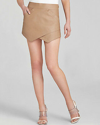 $198 NEW BCBG MAX AZRIA SKIRT OWEN CAMEL SZ L Asymmetric angles 100% AUTHENTIC