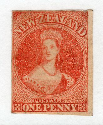 NEW ZEALAND 1862-64 FFQ 1d wmk Star imperf un., faults, SG 35 cat £450