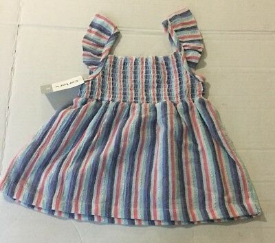 New Girls Carter's Striped Smocked Top Size 3t