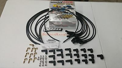 Moroso Mag-Tune Universal Spark Plug Wires Kit 135 Degree HEI / Socket Ford SBC