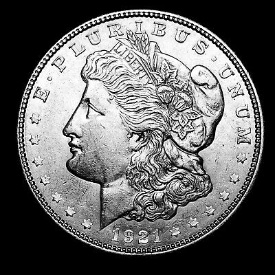 1921 D ~**ABOUT UNCIRCULATED AU**~ Silver Morgan Dollar Rare US Old Coin! #954