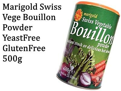 MARIGOLD Swiss Vegetable Bouillon Powder Yeast Free ( Green ) 500g Instant Stock