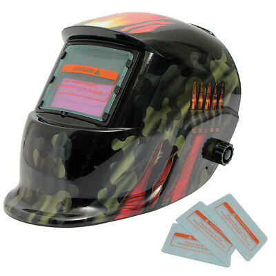 Welding Helmet Automatic Welding Mask MIG TIG ARC Mask w/ Lens - Ghost Claws