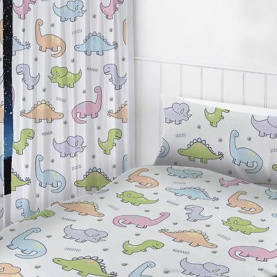 """Dinosaurs Readymade Curtains Childrens Bedroom 72"""" Drop"""