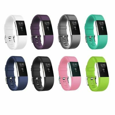 For Fitbit Charge 2 Strap Replacement Silicone Watch Band Fitness Wristband