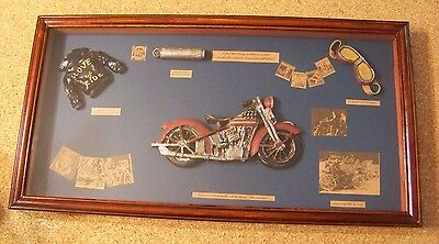 Motorcycle Shadow Box Display Frame wall hanging bikes biker