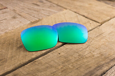 7f20ae3008 Emerald Blue Green Jade Polarized Mirror Replacement Lenses for Oakley  Holbrook