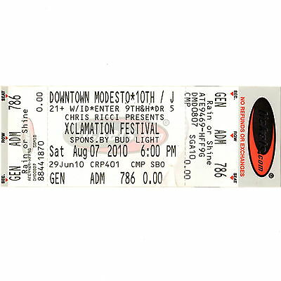 THE BEASTIE BOYS & MONTROSE & THE TUBES Full Concert Ticket 8/7/10 MODESTO CA