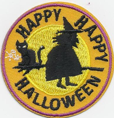 Girl Boy Cub HAPPY HAPPY HALLOWEEN witch Fun Patches Crests Badges SCOUT GUIDE