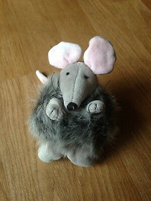 Mouse Soft Toy Cute Ideal For Hickory Dickory Dock Cute Small Grey Mouse