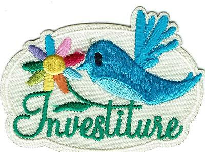 Girl INVESTITURE BLUEBIRD Fun Patches Crests Badges SCOUTS GUIDES Ceremony Daisy