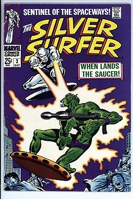 Silver Surfer #2 Vol 1 Near Perfect High Grade 1st App of Brotherhood of Badoon