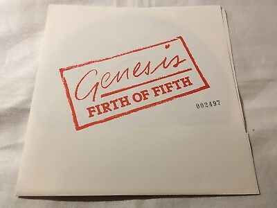 GENESIS - Firth Of Fifth - UK FAN CLUB FLEXI WITH NUMBERED PICTURE SLEEVE