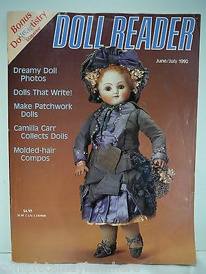 Doll Reader June/July 1990 Patchwork Dolls, Molded Hair, incl Doll Artristry Mag