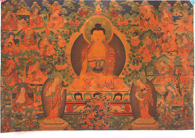 Authentic Indian Paper Scroll Painting Consecrate Buddha Collection