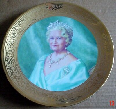 Royal Worcester Collectors Plate THE QUEEN MOTHER PLATE