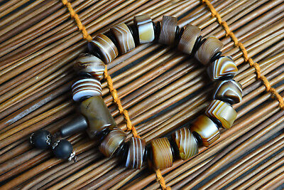 Collectible Natural Black Agate Exquisite Chinese Culture Symbol NICE Bracelet