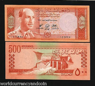 Afghanistan 500 Afghani P40 A 1961 King Zahir Shah Aunc Rare Currency Money Note