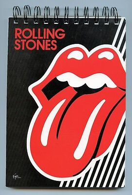 Rolling Stones A5 Unused Promotional Reporters Notepad Spiral Bound Notebook
