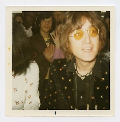 John Lennon 1971 Grapefruit Book Launch Vintage Snapshot Photograph