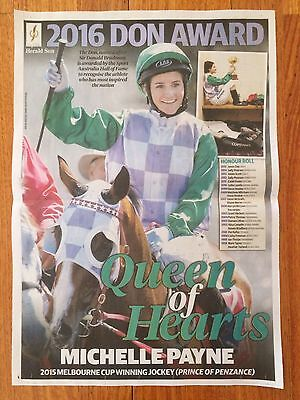 Michelle Payne 2016 Don Award Poster
