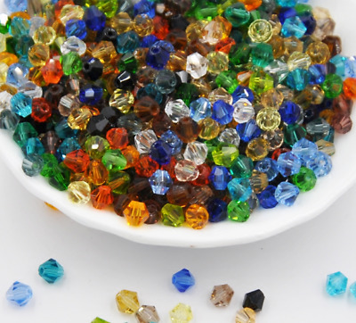 wholesale 100/500/1000pcs 3mm crystal Bicone Beads Pick color