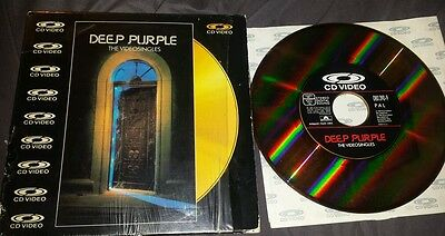 "DEEP PURPLE - THE VIDEO SINGLES. Rare 10"" CD VIDEO. GERMANY 1987 LASER DISC"