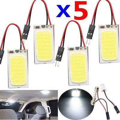 48 SMD COB LED T10 4W 12V White Light Car Interior Panel Lights Dome Lamp Bulb #