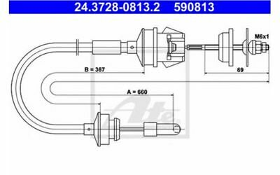 Cable d'embrayage Peugeot 205 1.9 GTI CAT 1.6 1.7 TD 1.6 GTX ATE